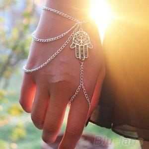 Fatima Finger Ring Hand Chain